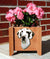 Great Dane Natural Dog Planter Box Harlequin