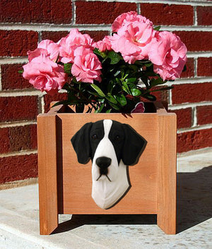 Great Dane Natural Dog Planter Box Mantel