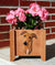 Greyhound Dog Planter Box Red