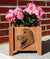 Irish Wolfhound Dog Planter Box Red