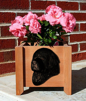 Newfoundland Dog Planter Box Black