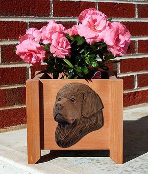 Newfoundland Dog Planter Box Brown