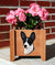 Rat Terrier Dog Planter Box Black And White