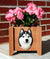 Siberian Husky Dog Planter Box Black And White