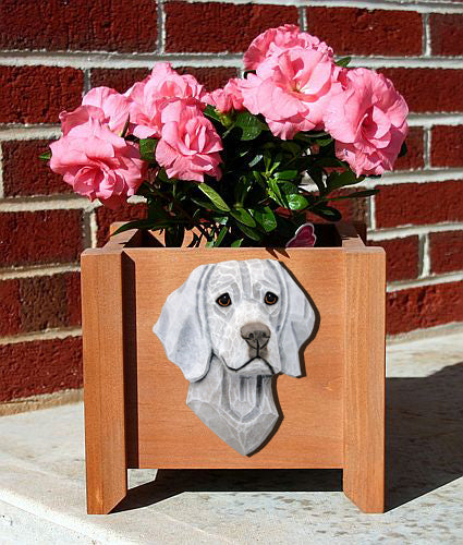 Weimaraner Dog Planter Box