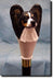 Papillon Dog Hand painted Walking Cane Stick