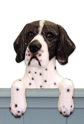 English Pointer Dog Door Topper Black and White