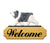 Polish Lowland Sheepdog Dog in Gait Yard Welcome Sign