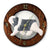 Polish Lowland Sheepdog Dog Light Oak Hand Crafted Wall Clock
