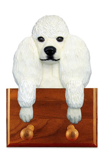 Poodle Dog Leash Holder White