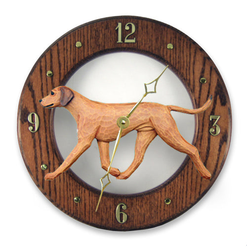 Rhodesian ridgeback Dog Light Oak Hand Crafted Wall Clock
