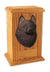 Schipperke Dog Light Oak Memorial Cremation Urn