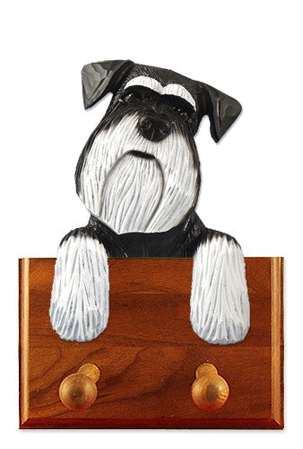 Schnauzer Natural Dog Leash Holder Salt And Pepper