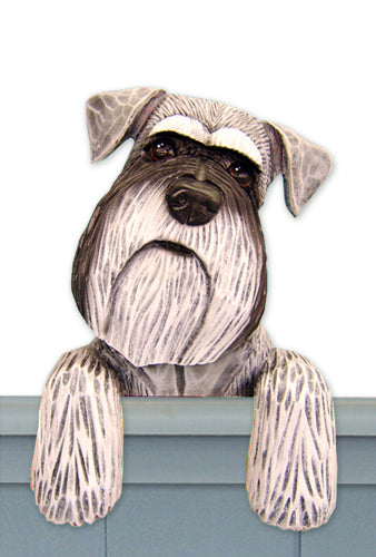 Schnauzer Natural Dog Door Topper Black