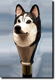 Siberian Husky Dog Hand painted Hiking Staff