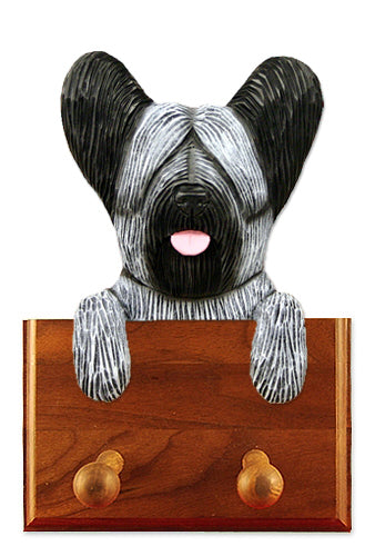 Skye Terrier Dog Leash Holder Dark Grey