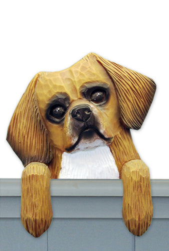 Tibetan Spaniel Dog Door Topper Black