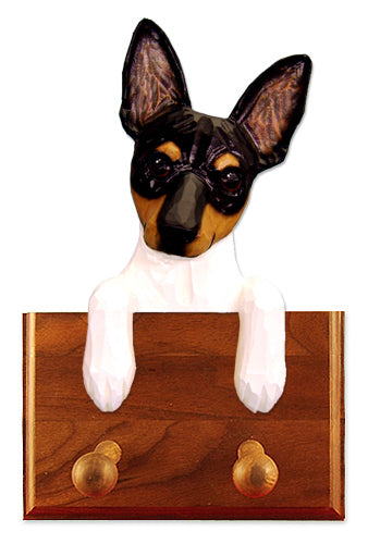 Toy Fox Terrier Dog Leash Holder Red And White