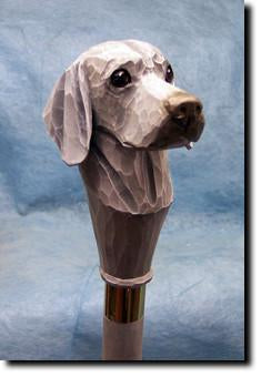 Weimaraner Dog Hand painted Walking Cane Stick