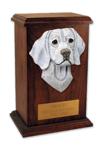 Weimaraner Dog Light Oak Memorial Cremation Urn