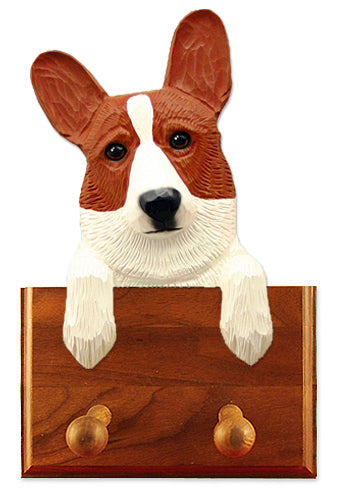 Welsh Corgi Cardigan Dog Leash Holder Red
