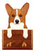 Welsh Corgi Pembroke Dog Leash Holder Red