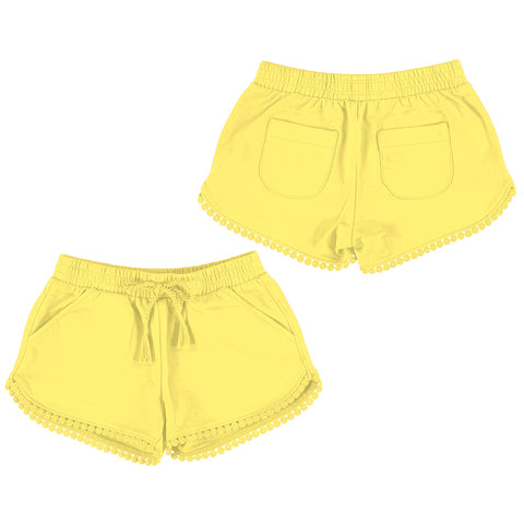 Yellow Pom Pom Short