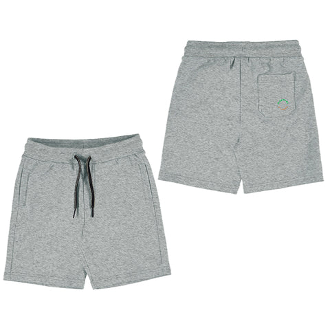 Grey Basic Fleece Shorts