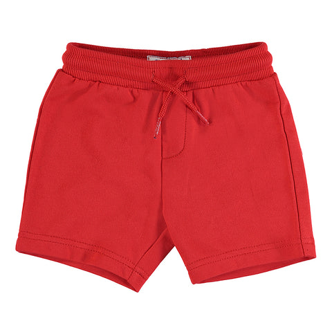 Red Basic Fleece Shorts