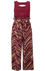 Burgandy Chevron Jumpsuit