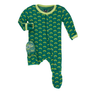Ivy Mini Trees Zipper footie