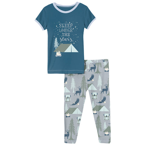 Pearl Blue Wilderness Guide 2 Piece Pajama Set