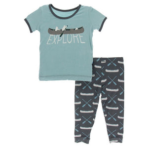 Stone Paddles and Canoe 2 piece pjs