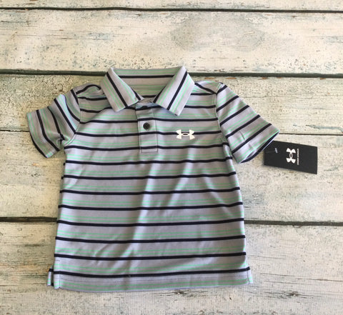 Mod Grey Stripe Polo