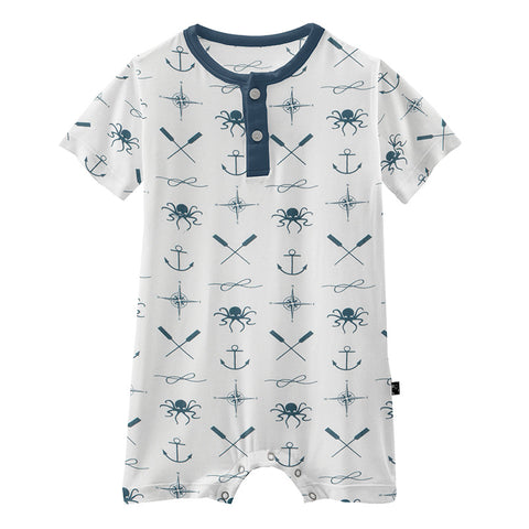 Natural Captain and Crew Henley Romper