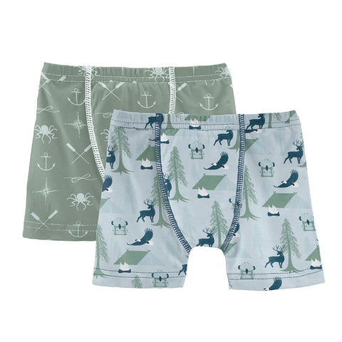 Pearl Blue Wilderness Guide and Lily Pad Captain and Crew Underwear set