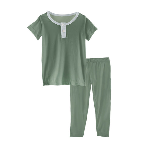 Lily Pad with Fresh Air Henley Pajama Set