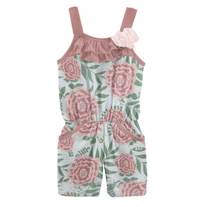 Fresh Air Floral Flower Romper with Pockets
