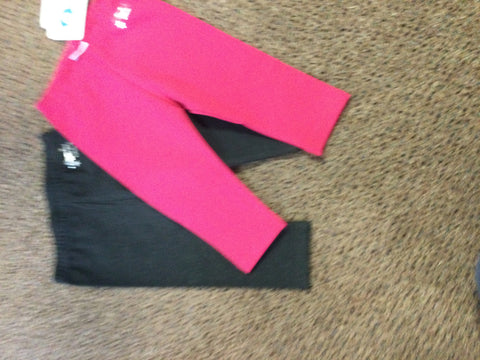 Basic Legging Set (pink and charcoal)