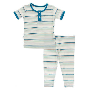 Culinary Art Stripe Henley Pjs