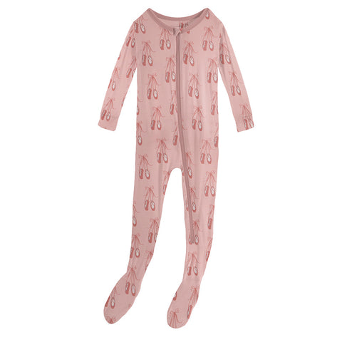 Baby Rose Ballet Muffin Ruffle Footie