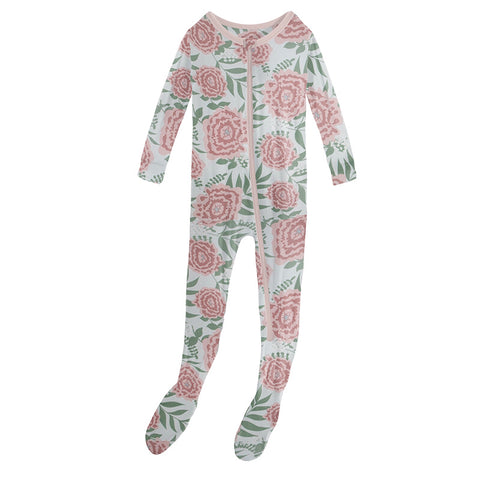 Fresh Air Floral Muffin Ruffle Footie
