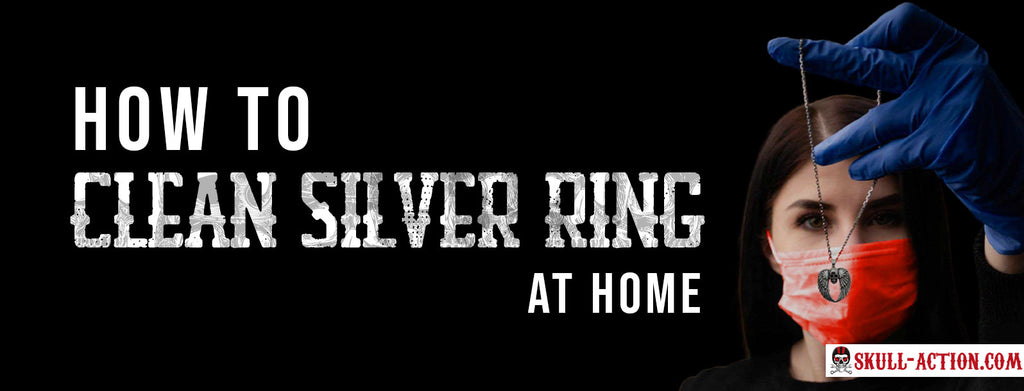 How to clean silver ring at home