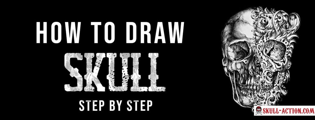 How to draw Skull (Step by Step)