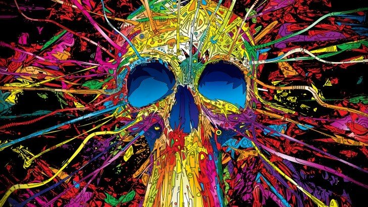 colorful-skull-paint