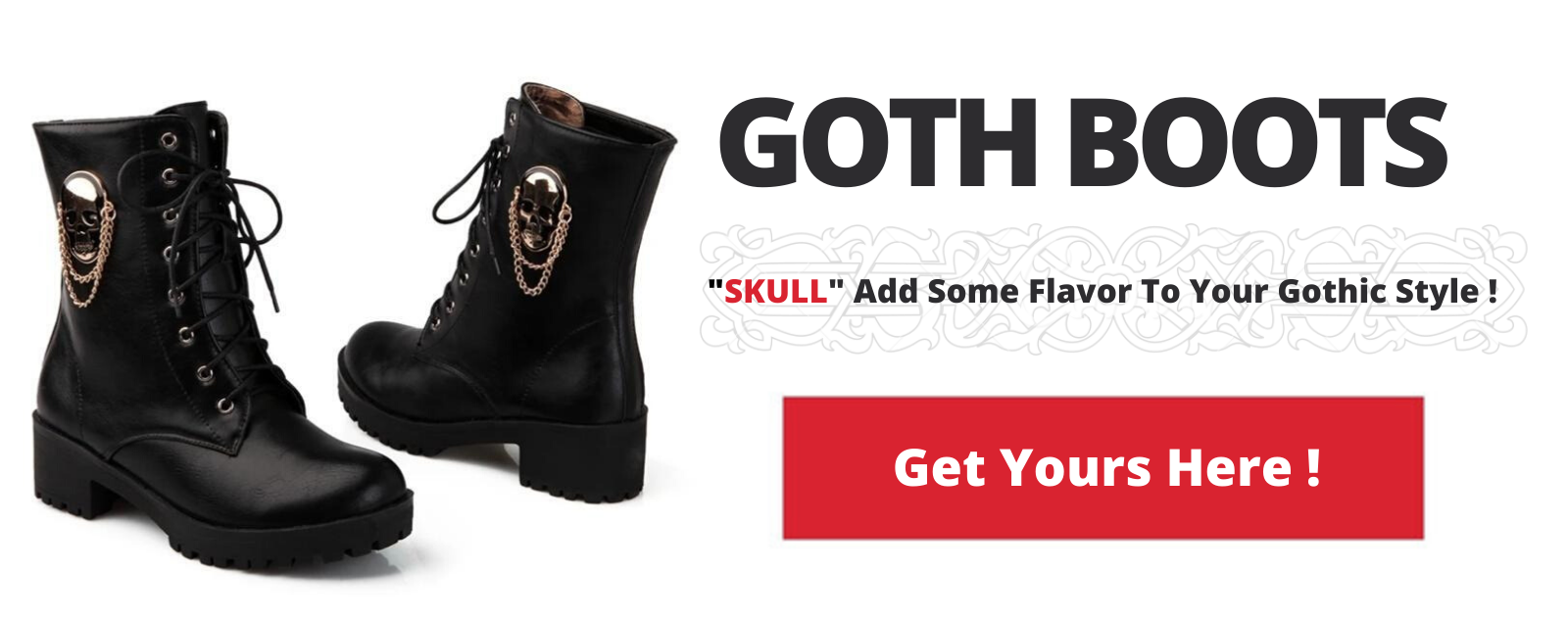 Goth Boots Leather