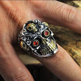 925 Sterling Silver Skull Ring | Skull Action