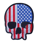 American Flag Skull Patch