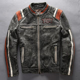American Leather Motorcycle Jacket | Skull Action