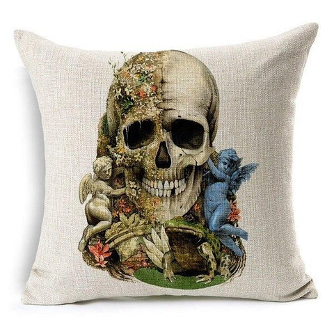 Angel Skull Pillow